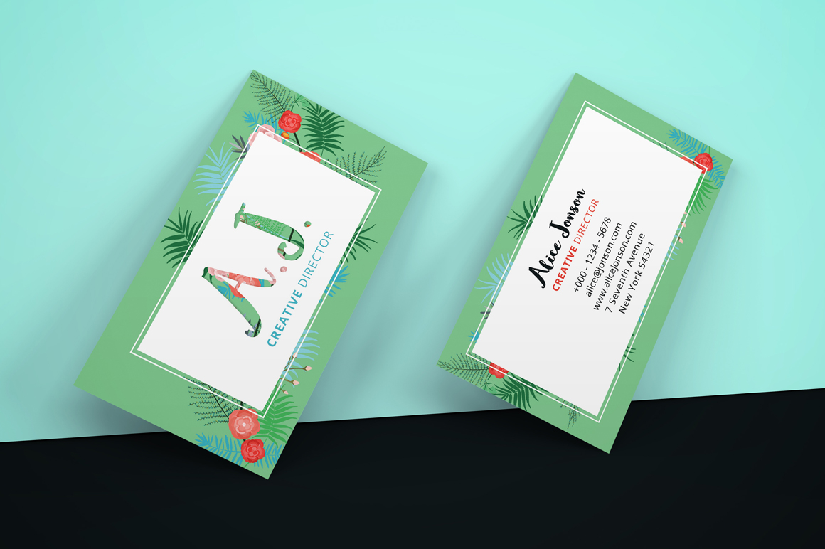 Floral Spring Business Card example image 4
