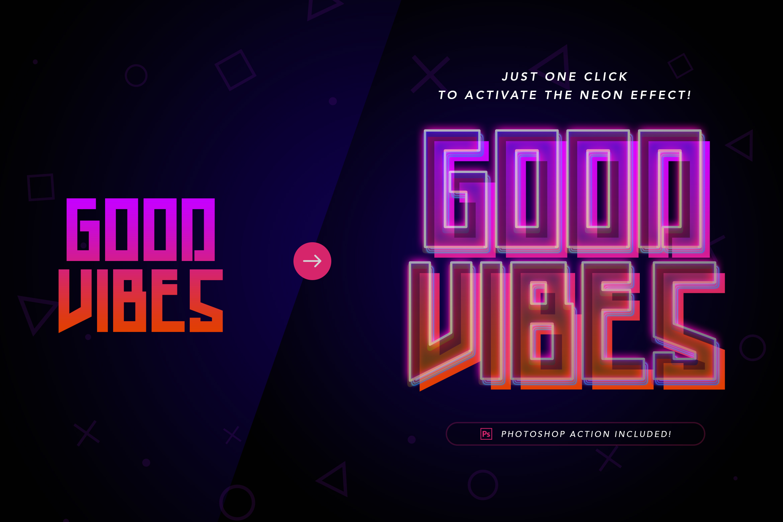 Good Vibes - Modern Neon Display Font example image 8