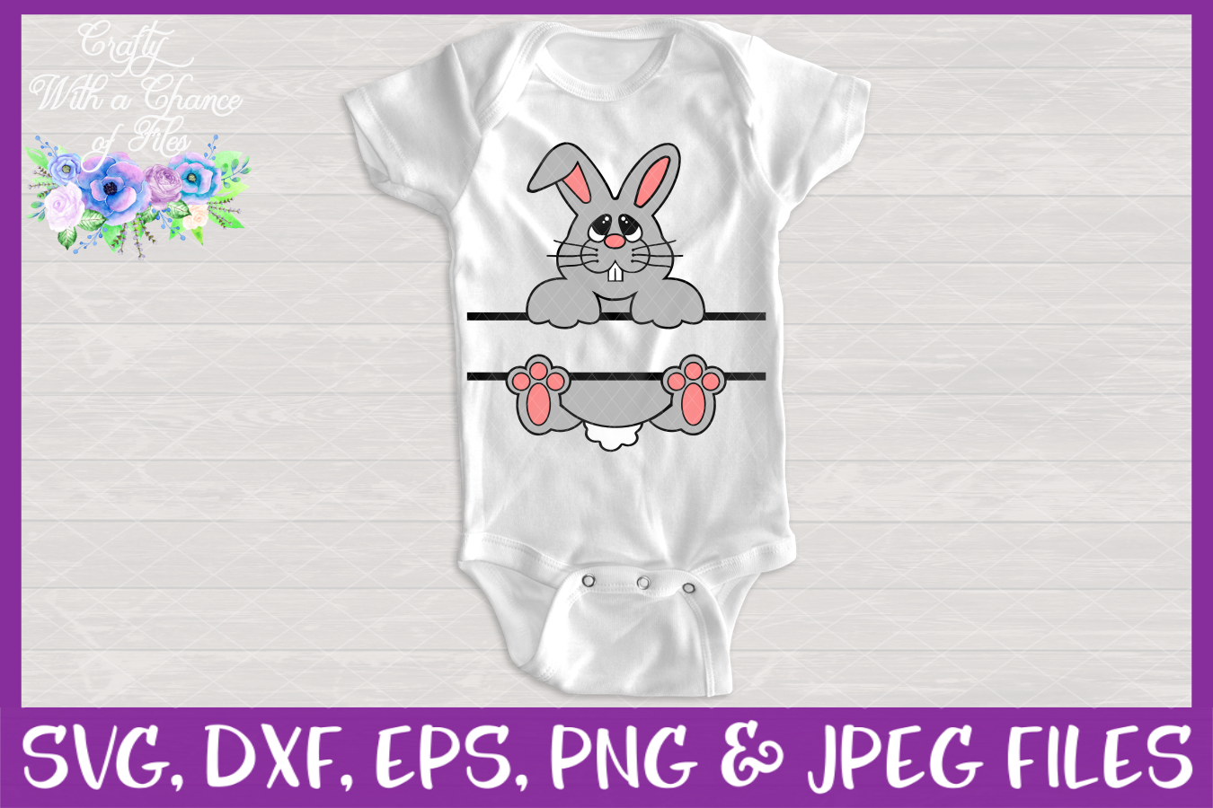 Split Bunny SVG - Easter Basket Design example image 2
