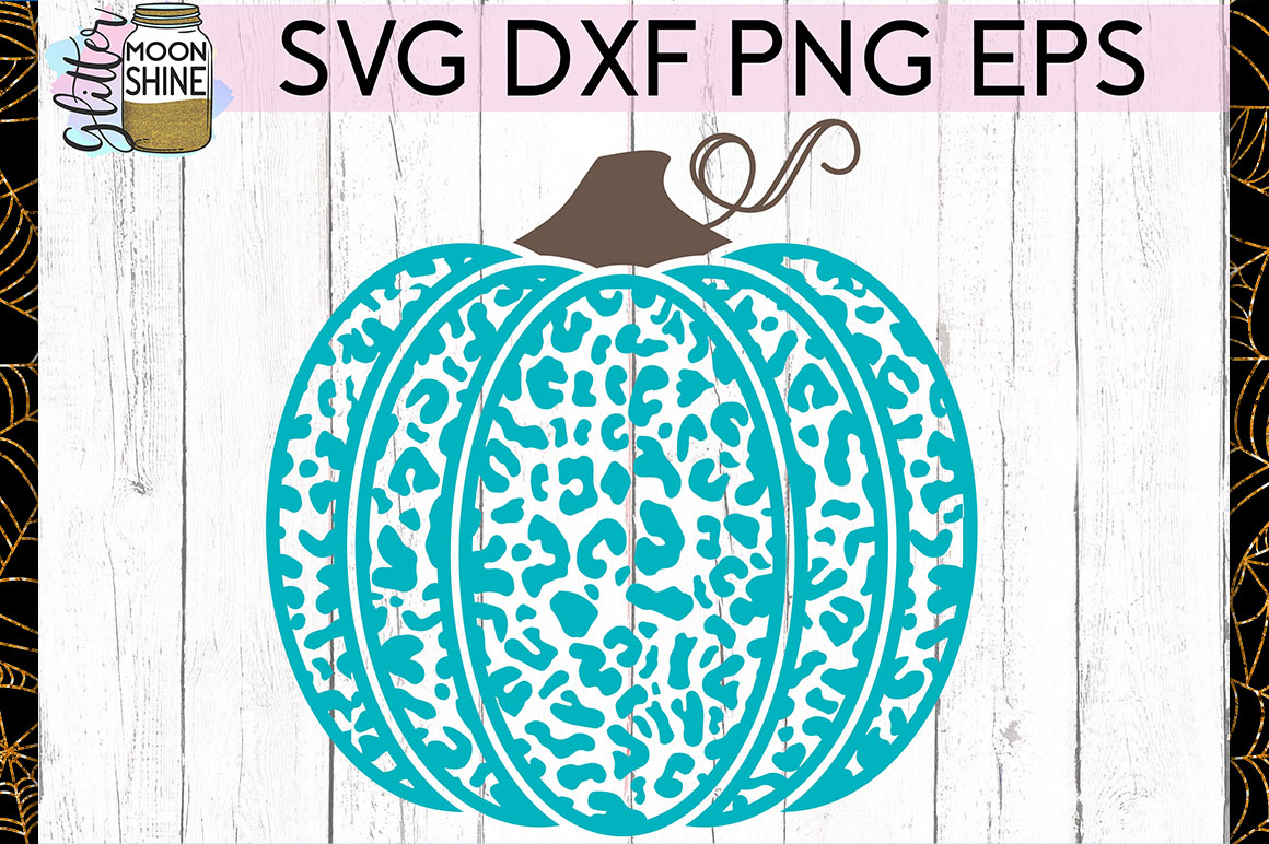 Leopard Print Pumpkin SVG DXF PNG EPS Cutting Files example image 1