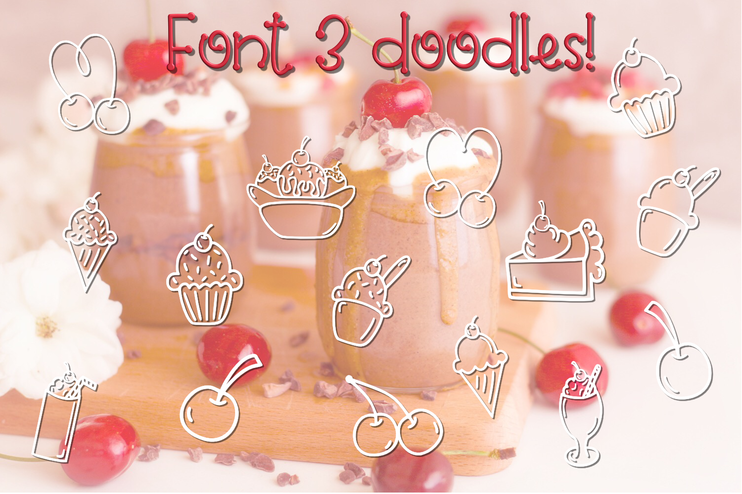 Cherry on Top - A Font Trio with Doodles example image 4