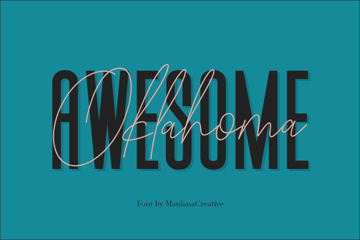 Signattury Signature Font - Free Sans example image 2