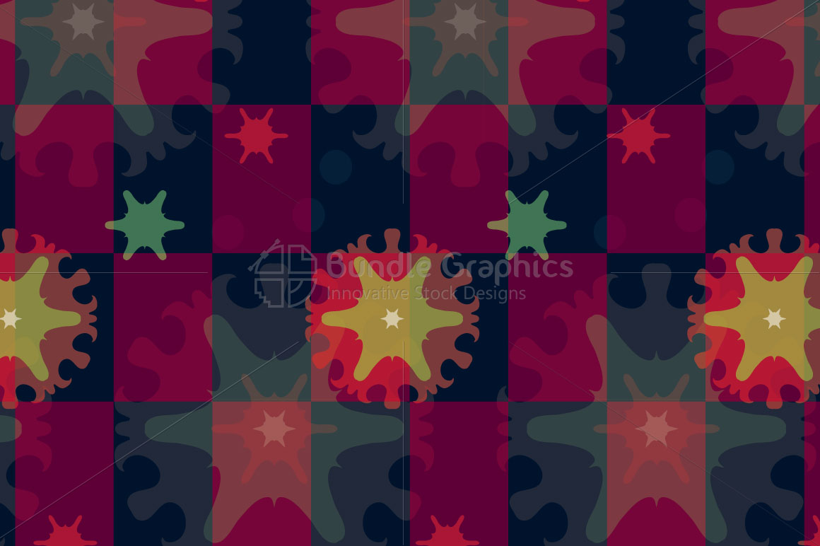 Snow Flakes - Creative Seamless Colorful Background example image 2