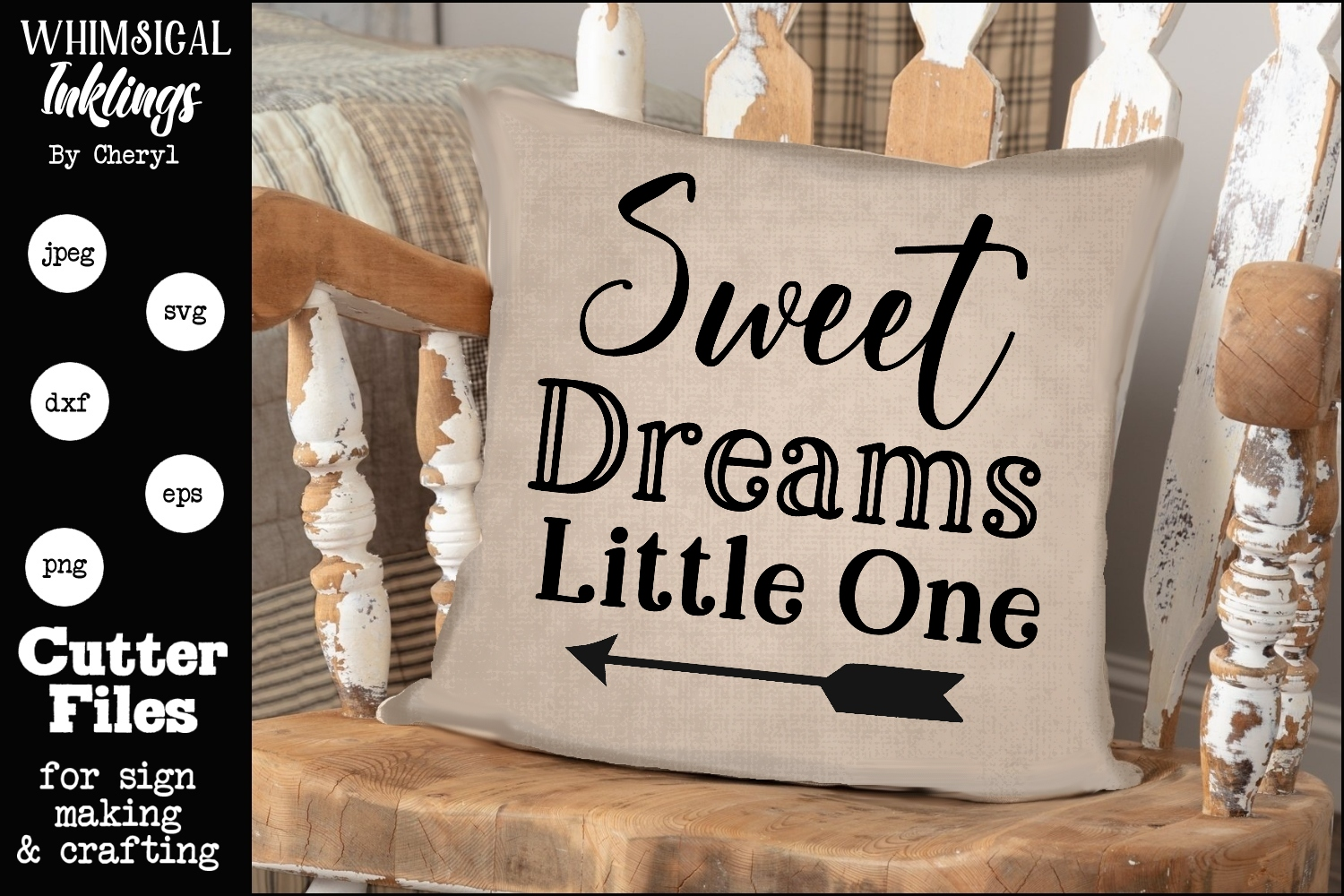 Sweet Dreams Little One SVG example image 1
