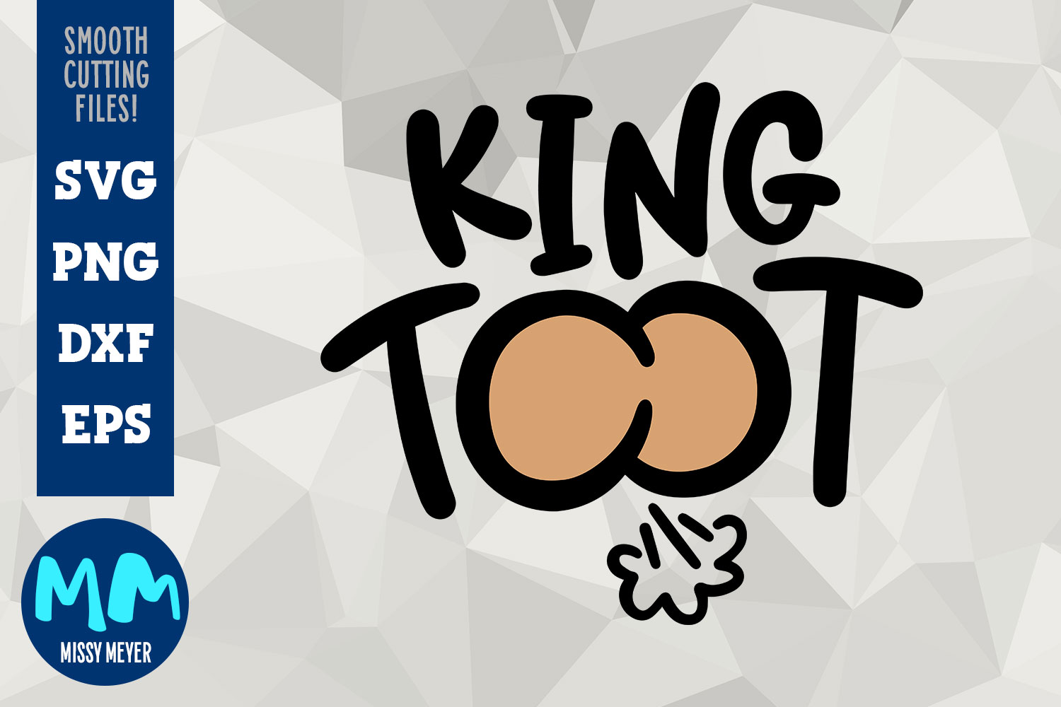 King Toot - Hand-Lettered Cut File Design example image 1