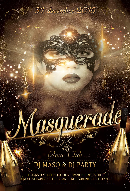 Masquerade Flyer example image 3