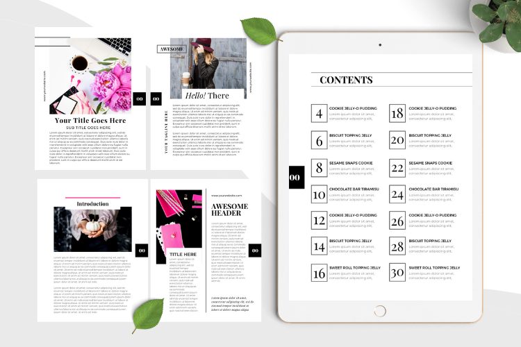 Hot Pink Fashion Canva template Ebook example image 5