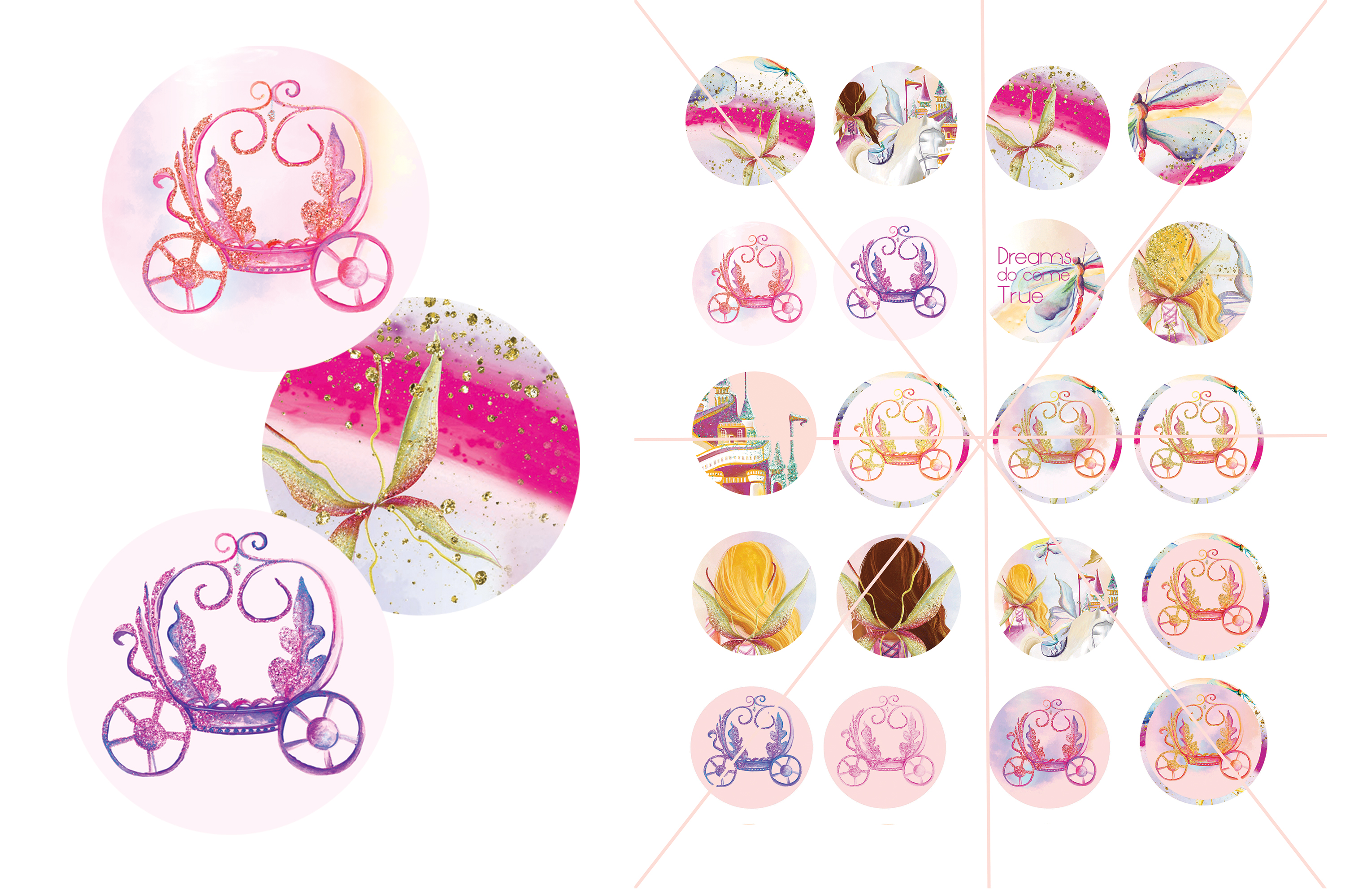 Fairy Tales Cup Cake Toppers example image 3