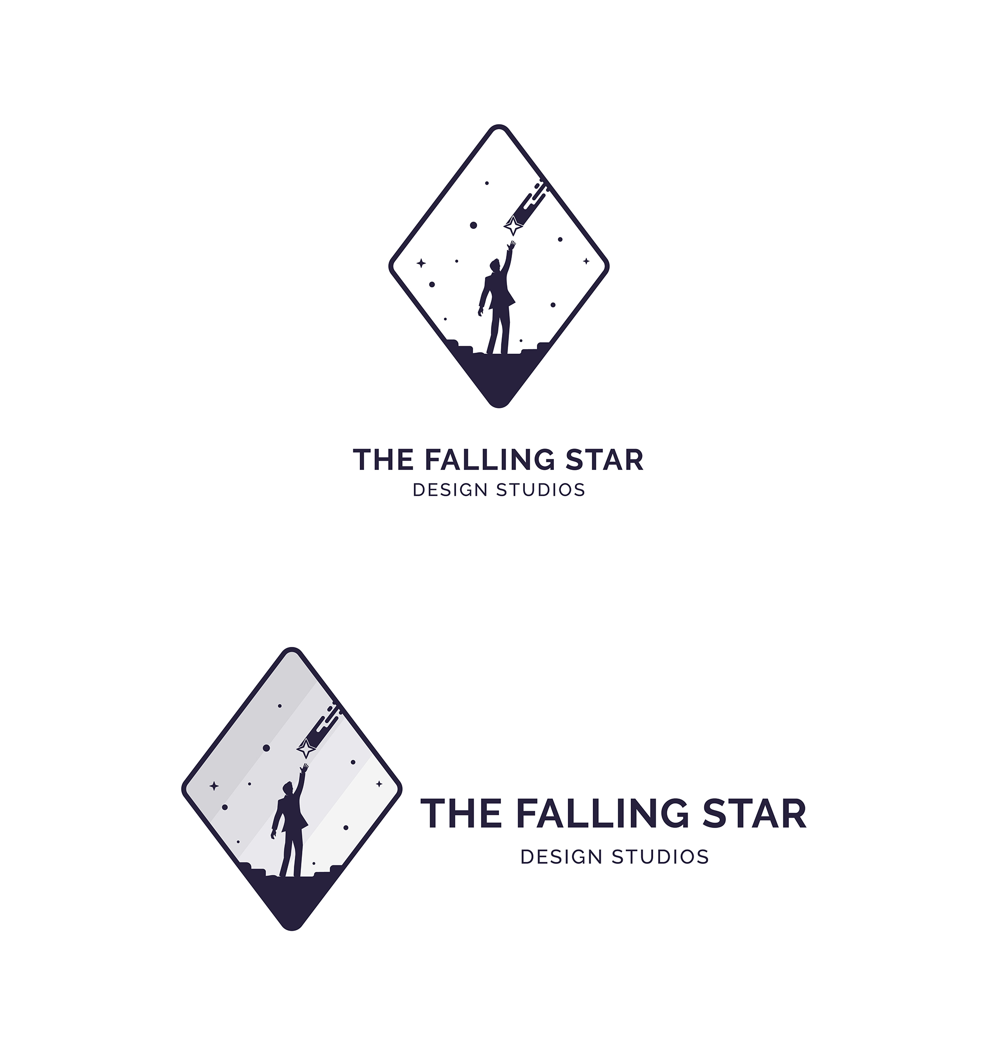 Men Catch a Falling Star Logo example image 7