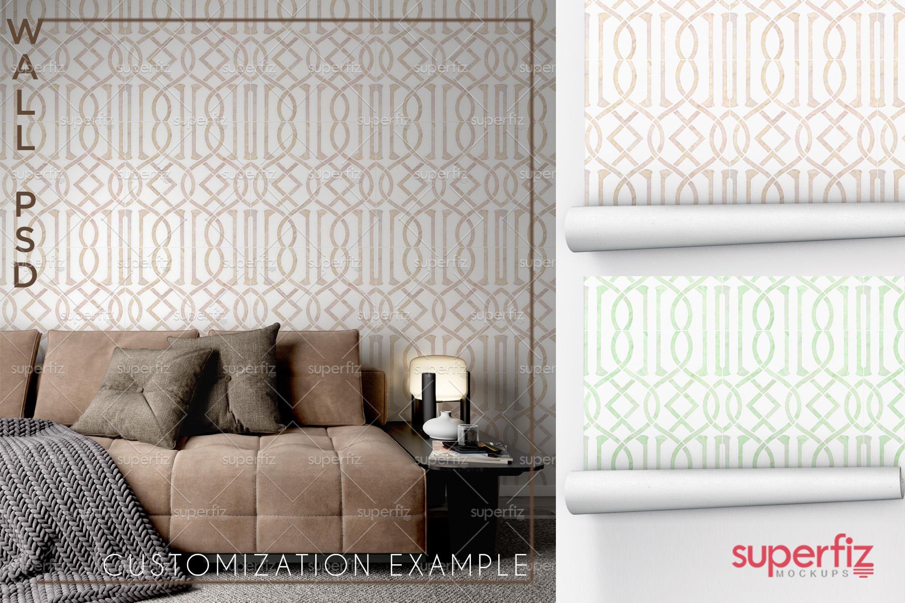 Wallpaper Mockup Bundle Vol.2 - SM98PACK - 5PSD SCENE example image 10