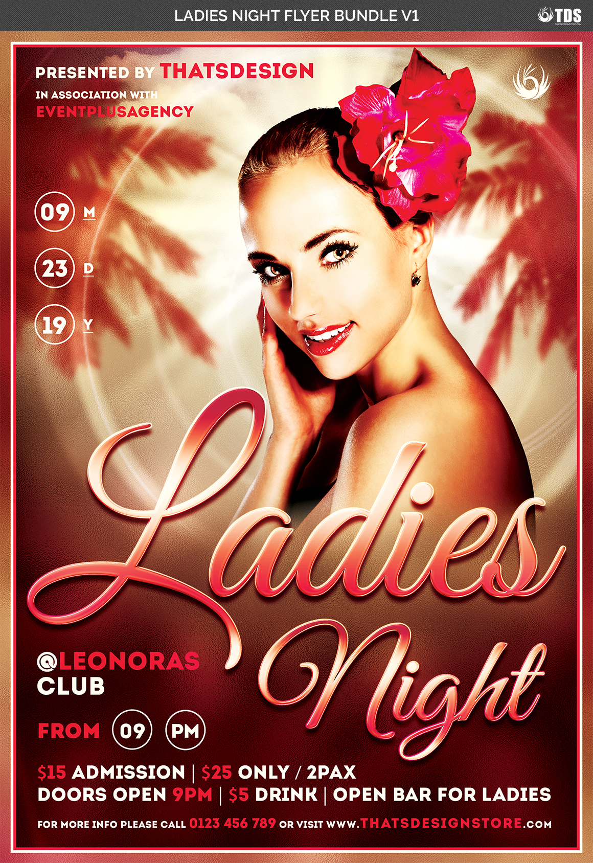 Ladies Night Flyer Bundle V1 example image 6