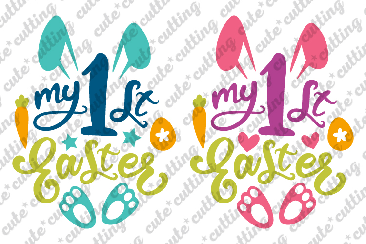 Easter svg, My First Easter svg, My 1st Easter svg, dxf, png example image 1