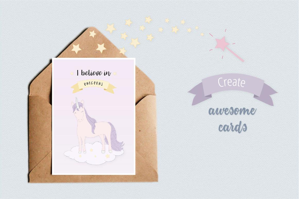 Cute Funny Unicorn Illustration Set example image 5