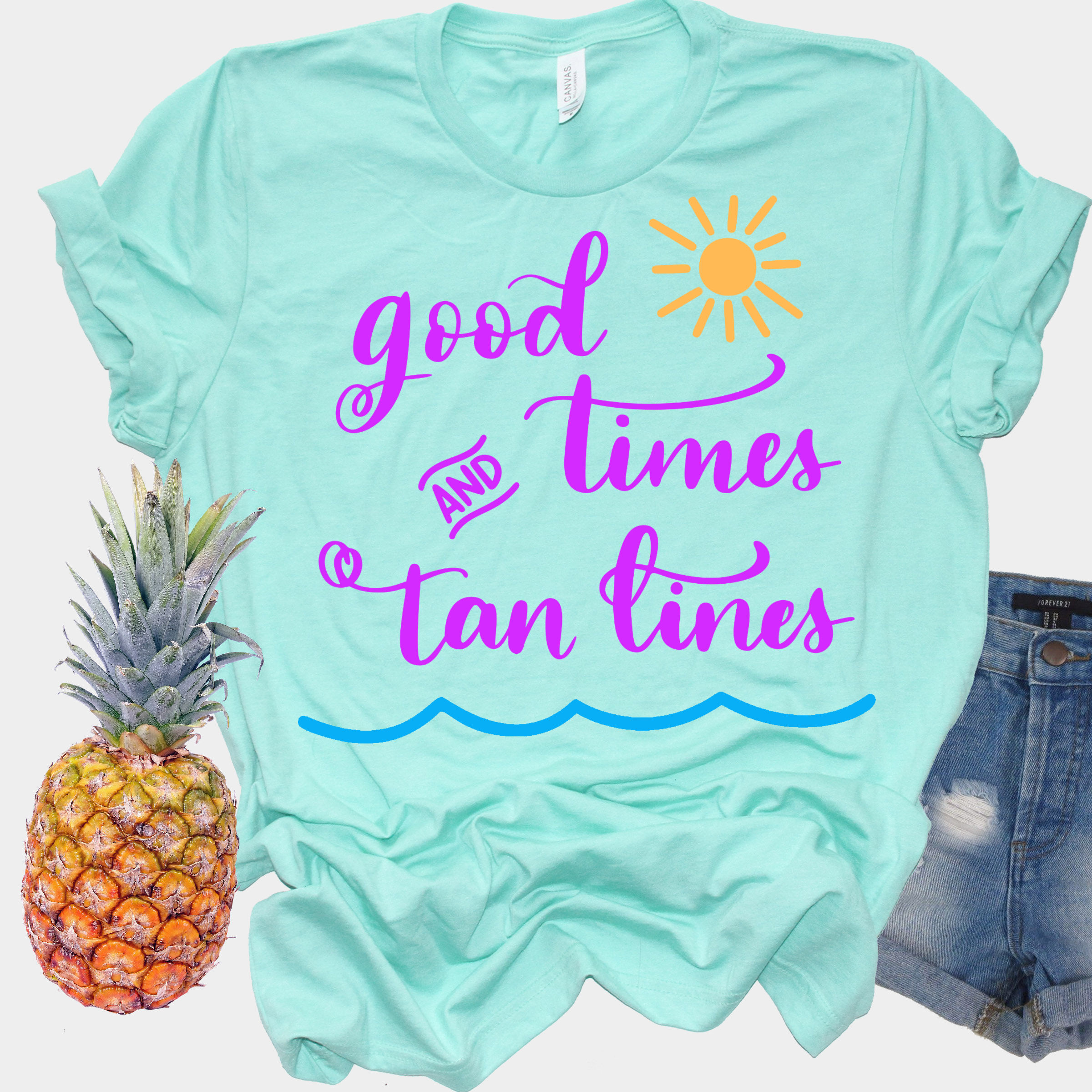 Good Times and Tan Lines SVG - Summer SVG - Vacation SVG example image 3