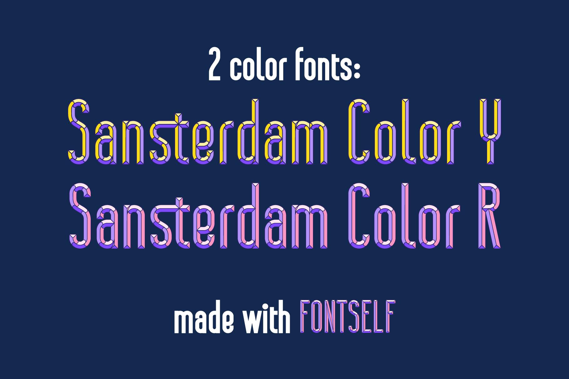 Sansterdam Color Font example image 3