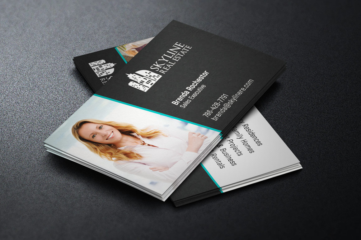 Real Estate Business Card Template example image 1