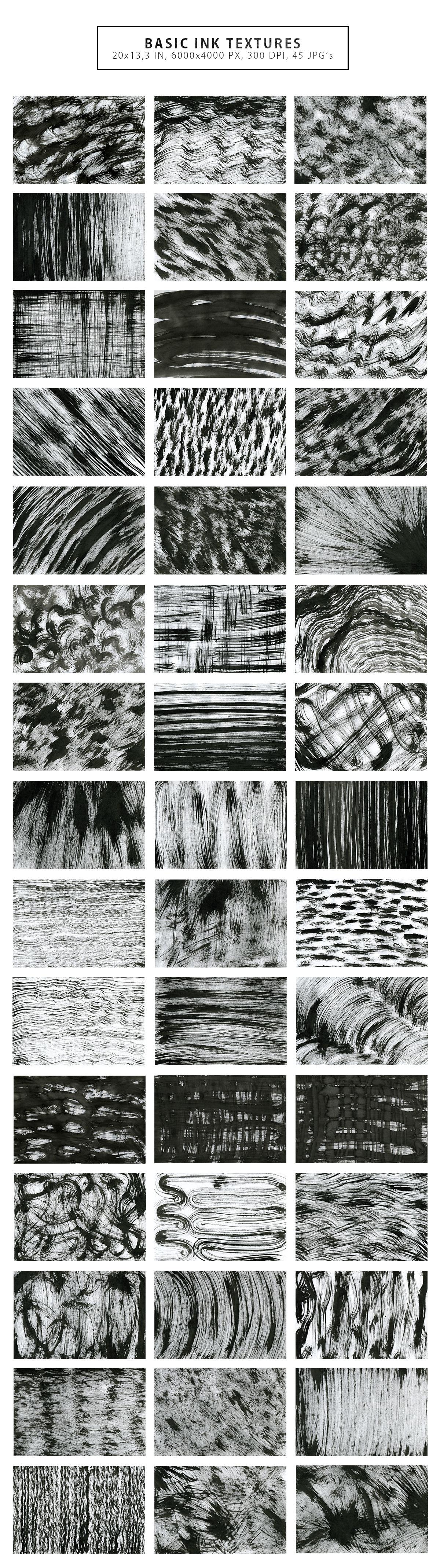 Inverted Black Ink Backgrounds Vol.2 example image 5