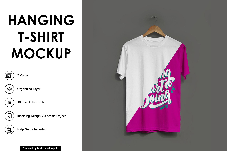 Hanging T-shirt Mockup example image 1