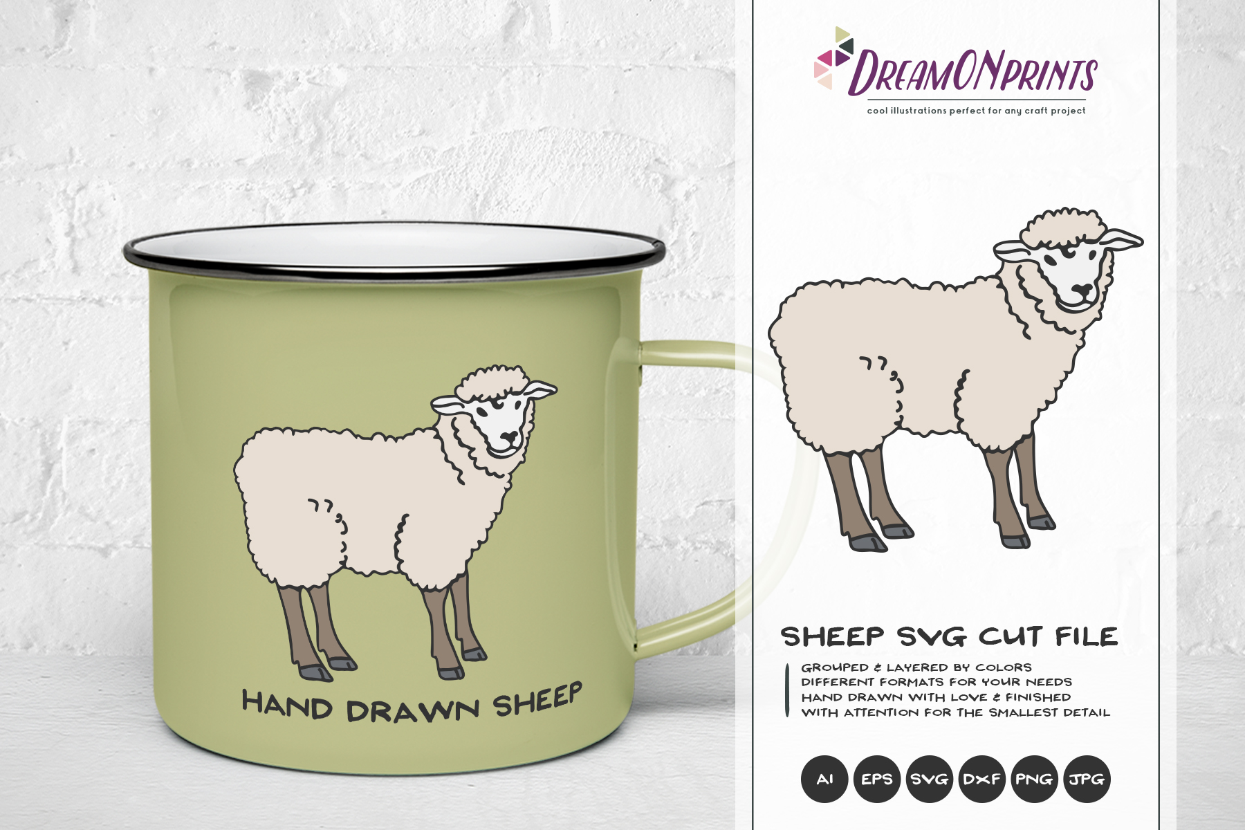 Sheep SVG Cut Files - Farm SVG example image 1