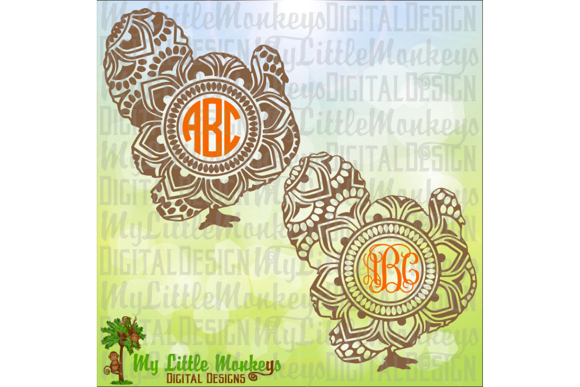 Turkey Mandala Monogram Base example image 1
