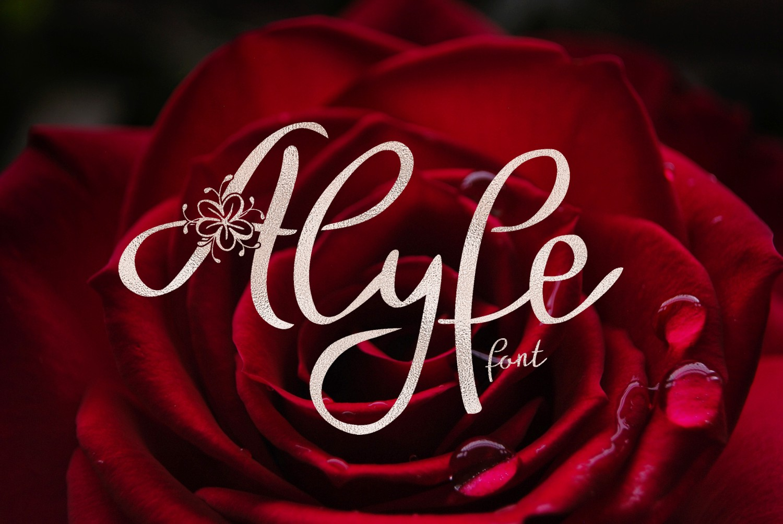 Alyfe font example image 1