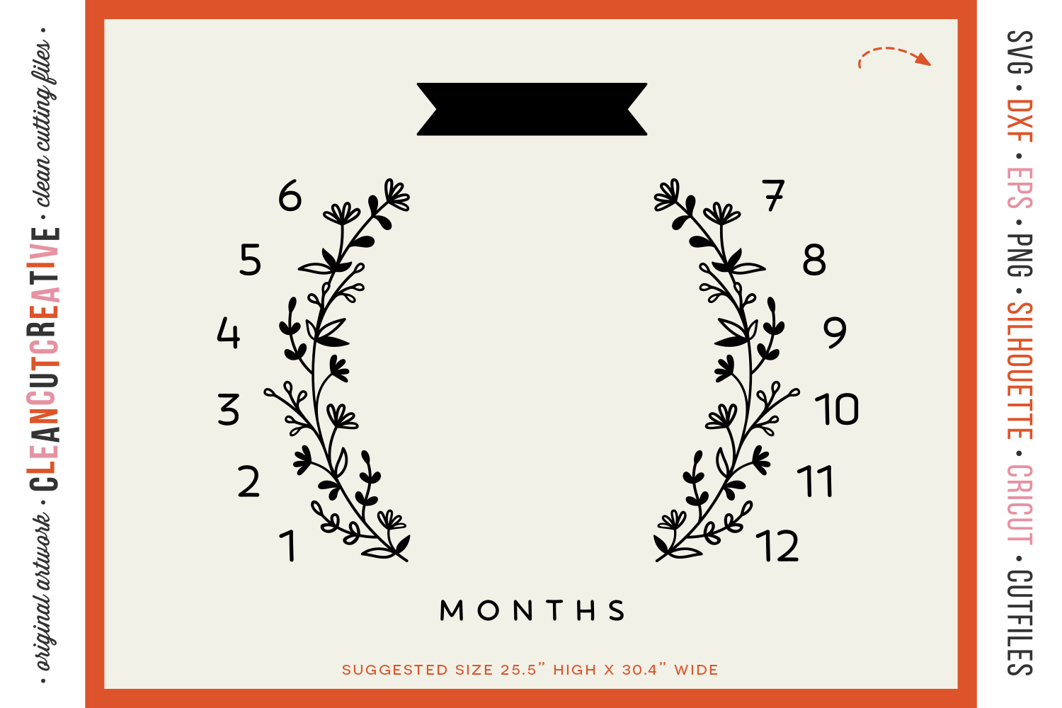 Baby MONTHLY MILESTONE BLANKET - SVG design for crafters example image 3