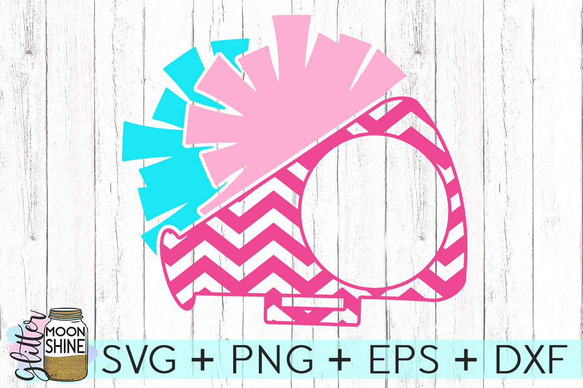 Cheer Monogram Frame SVG DXF PNG EPS Cutting Files example image 2