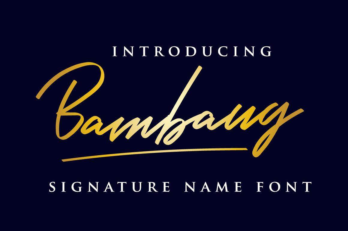 Bambang - Signature Font example image 1