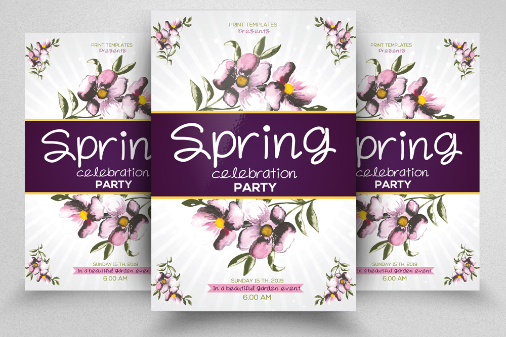 Spring Flyer Template example image 1