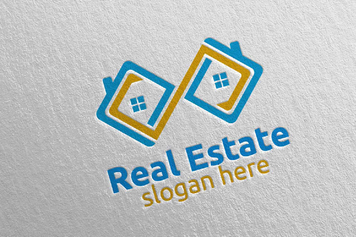 Real Estate Infinity Logo Design 38 example image 5