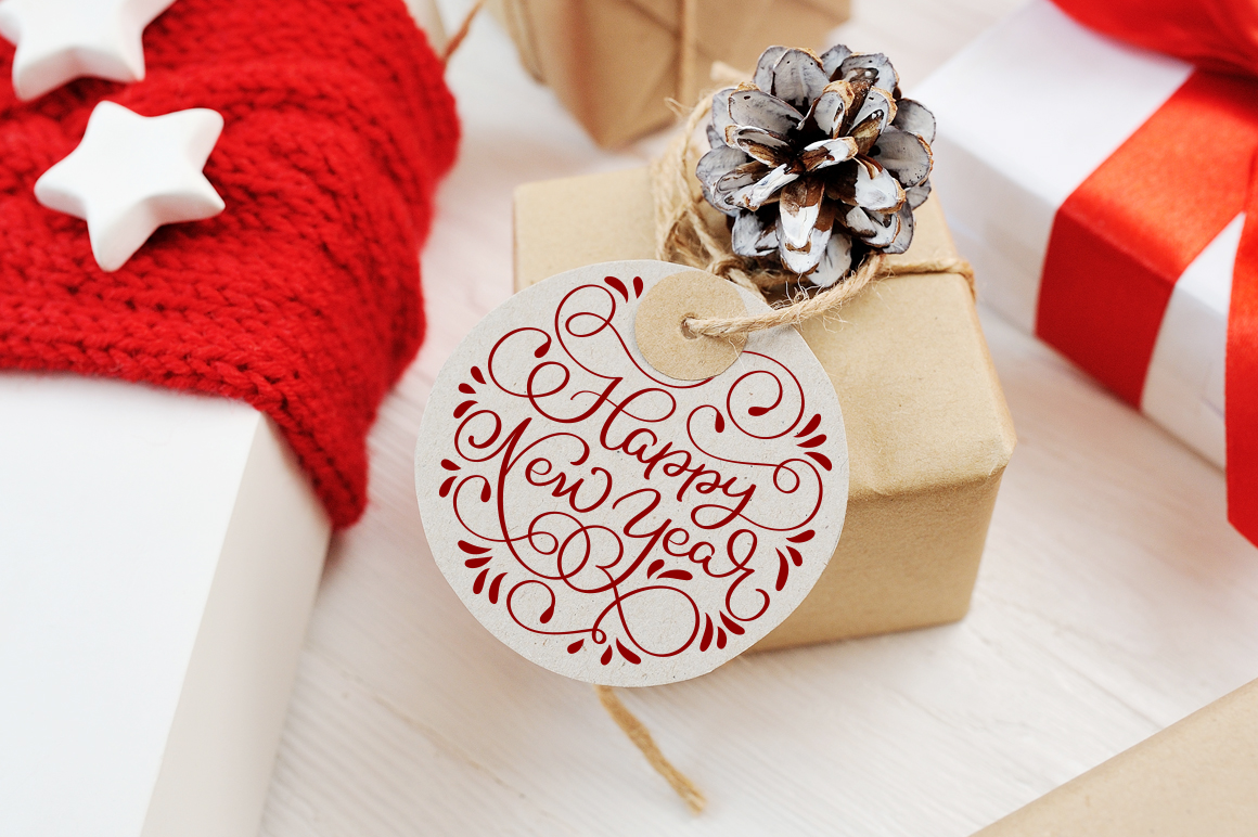 Merry Christmas Quotes and Objects Calligraphy Collection example image 10