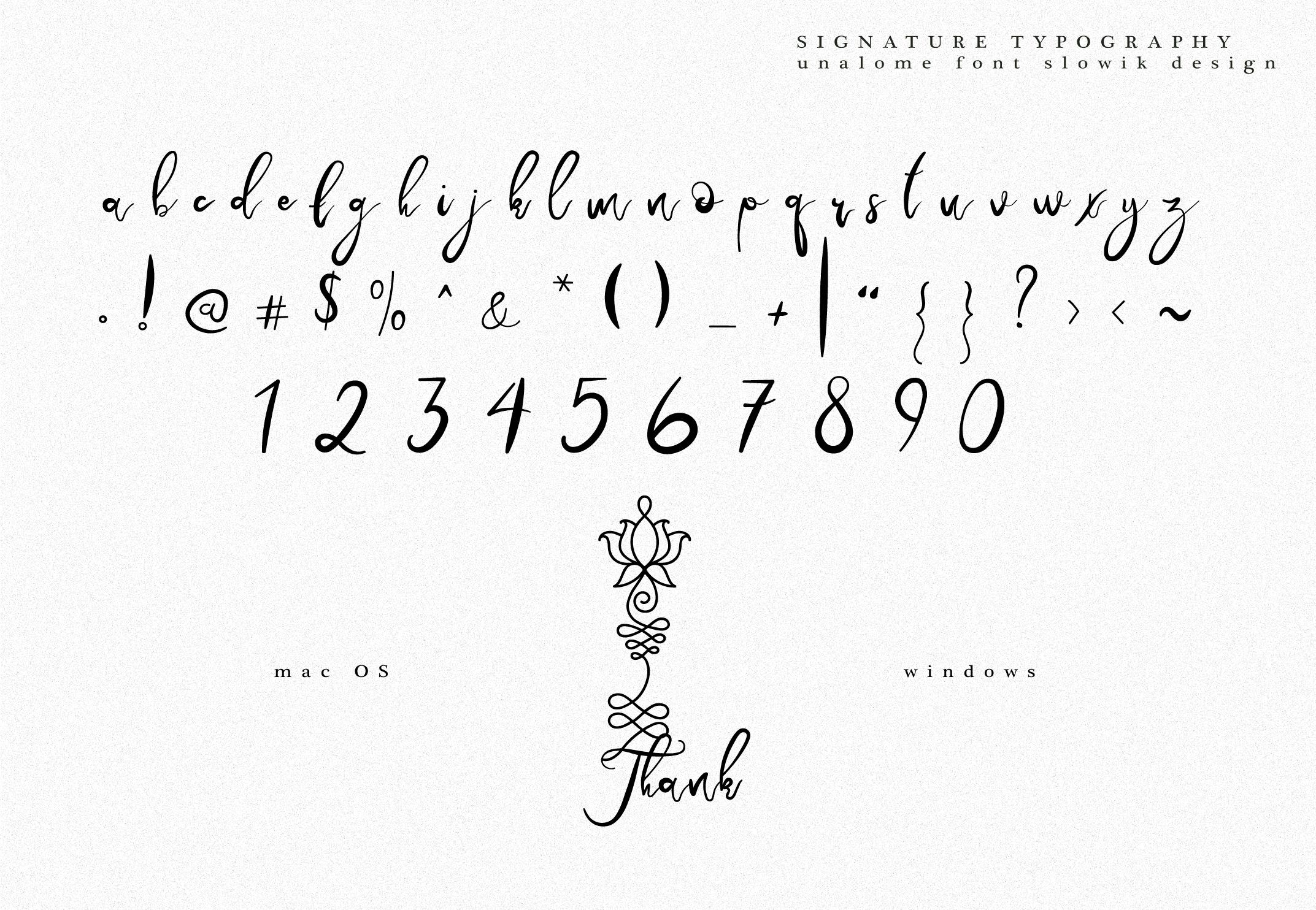 Unalome Sacred Font example image 10