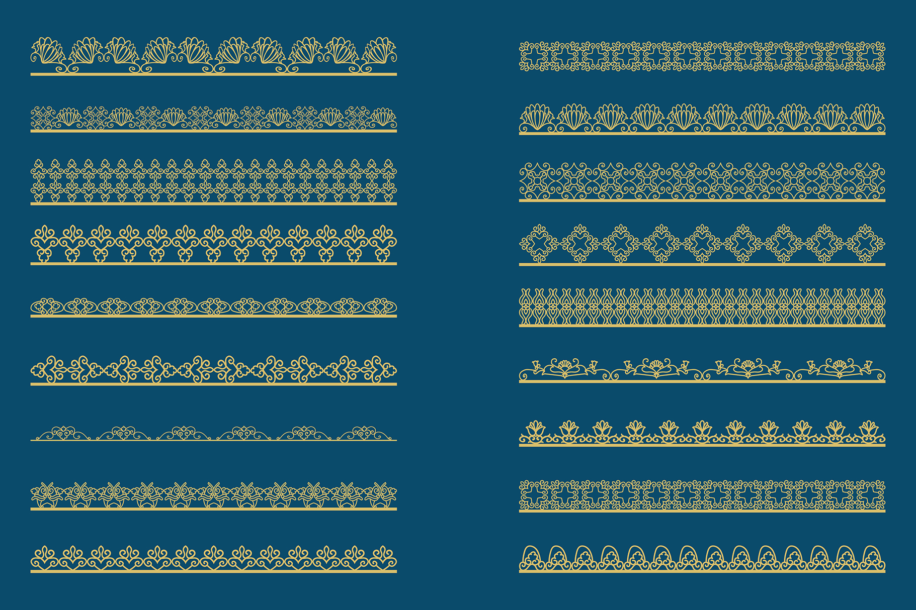 Bronze gold Lace Borders Clipart & Vectors example image 5