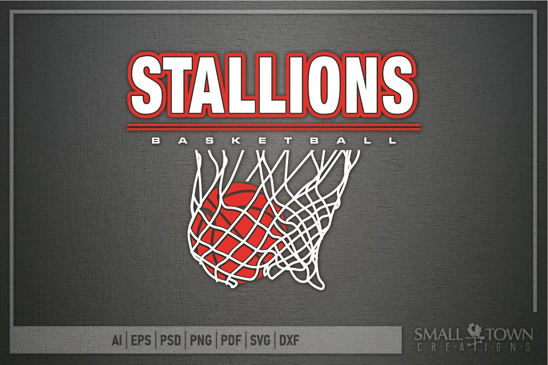 Stallion, basketball, Team, logo, PRINT, CUT & DESIGN example image 5