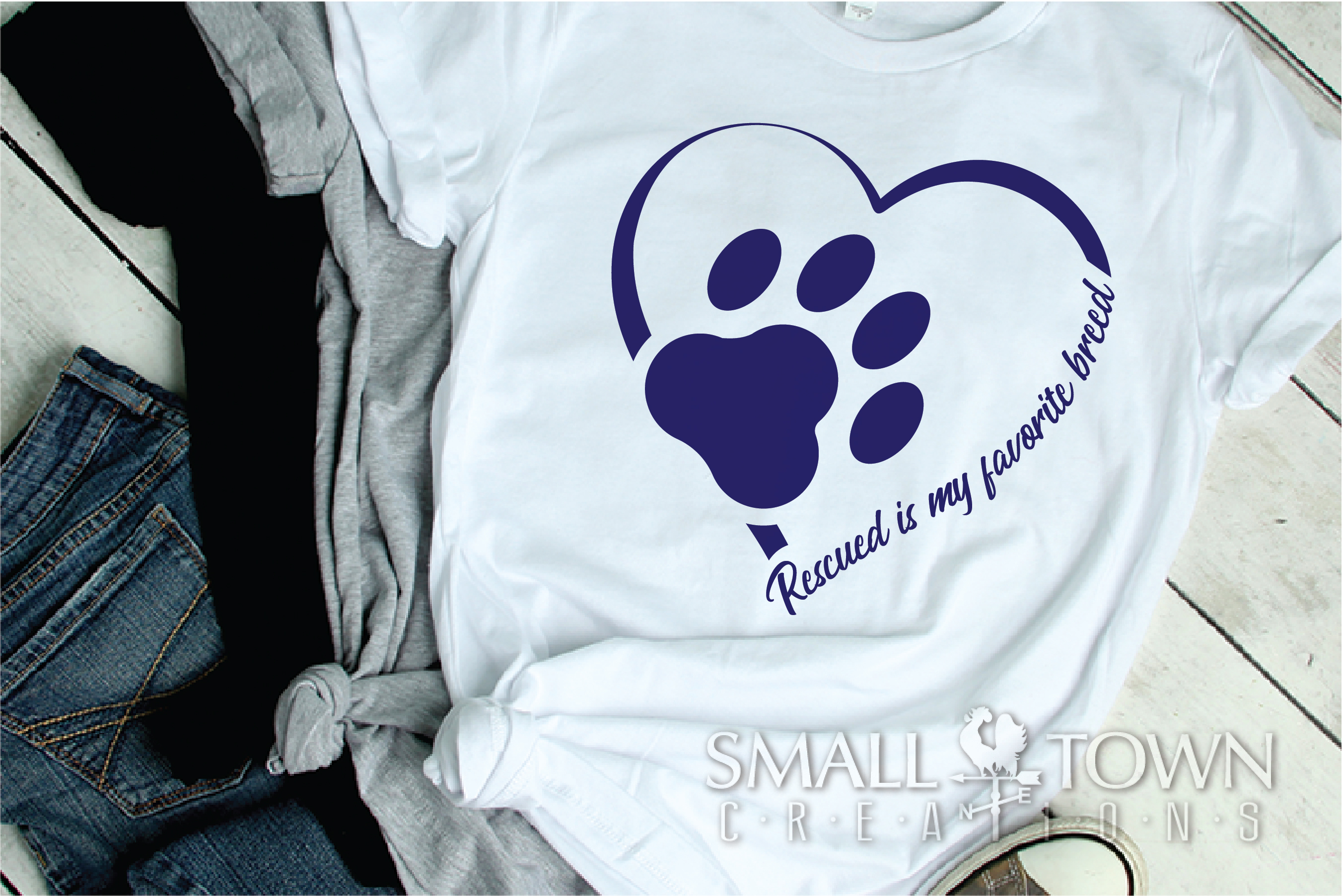 Rescued Dog, Adopted Dog, Dog breed, PRINT, CUT & DESIGN example image 2