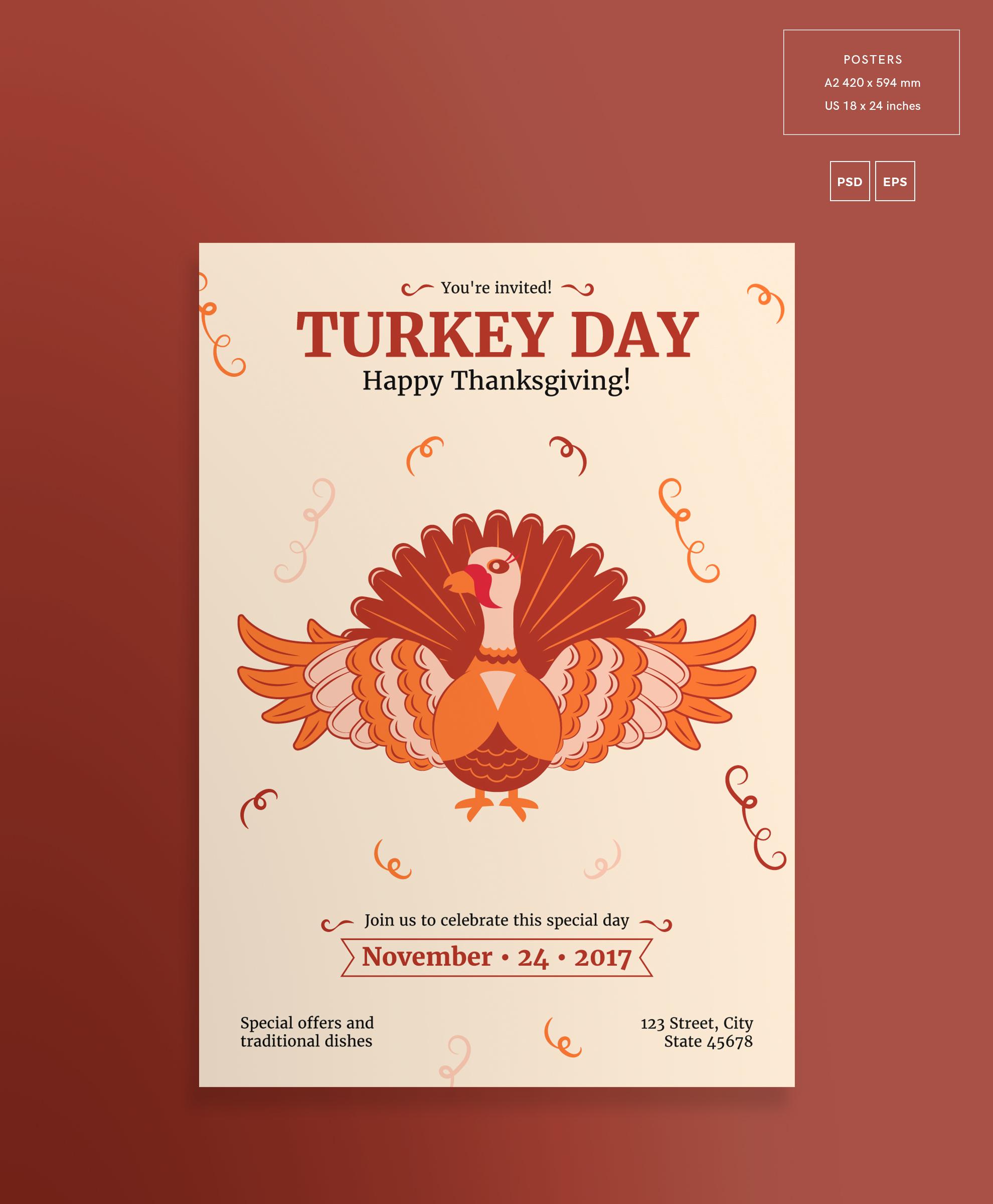 Thanksgiving Celebration Design Templates Bundle example image 3
