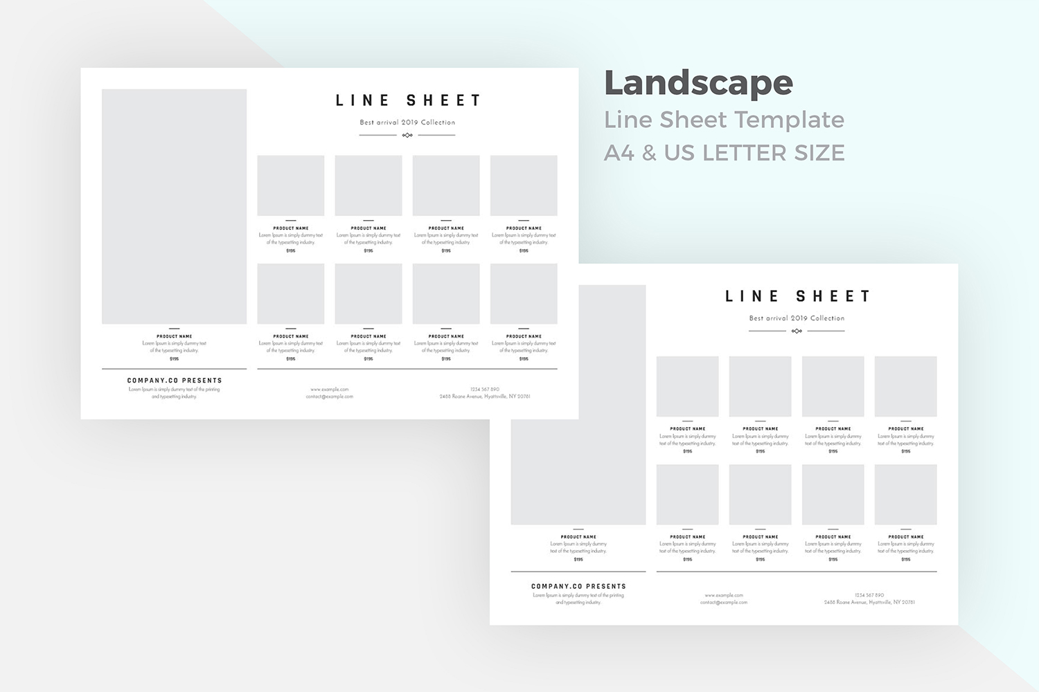Landscape product sale flyer template example image 4