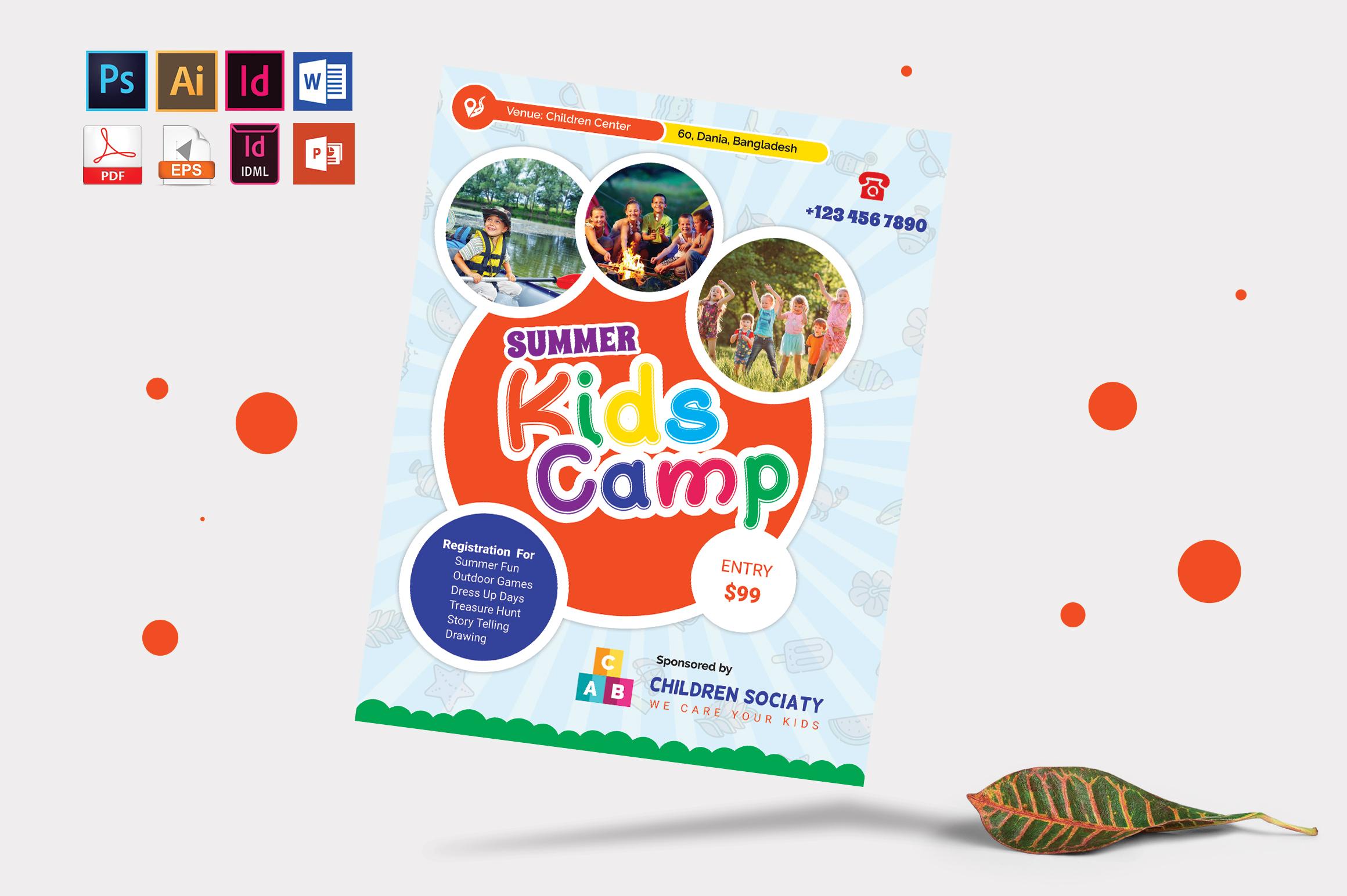 Kids Summer Camp Flyer Vol-07 example image 3