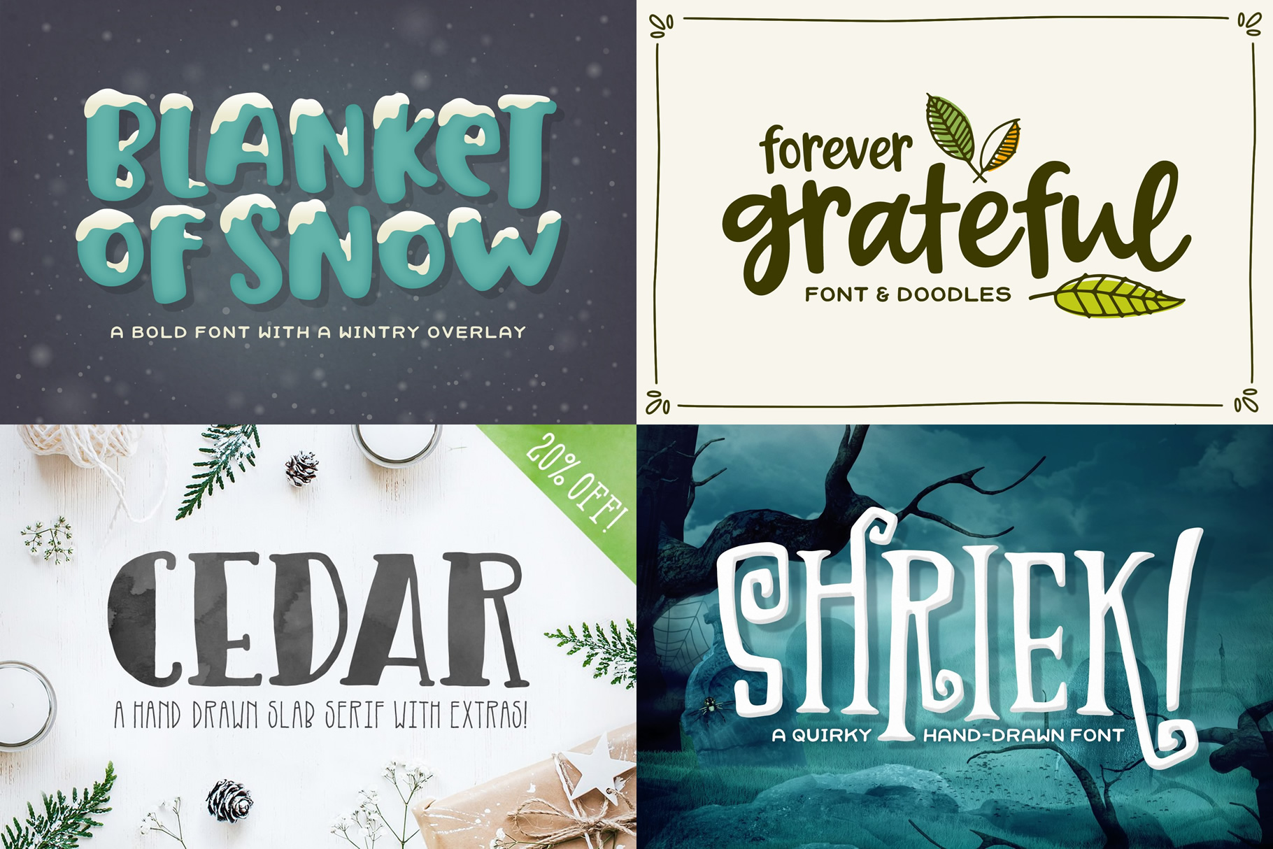 Holiday Font Pack example image 2