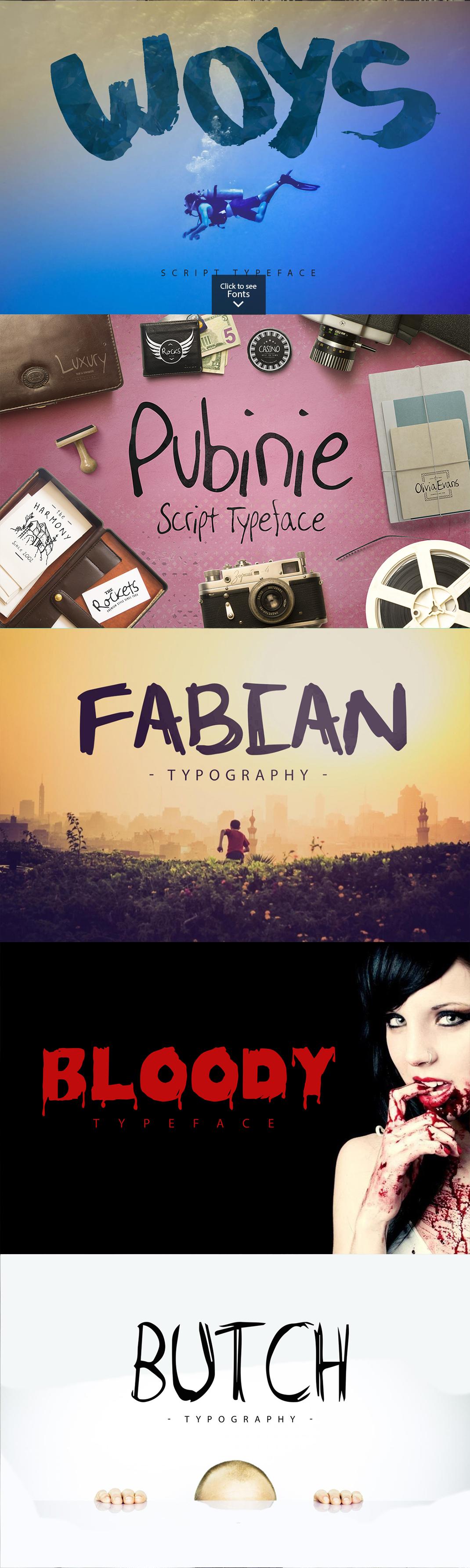 25 Fonts Bundle example image 6