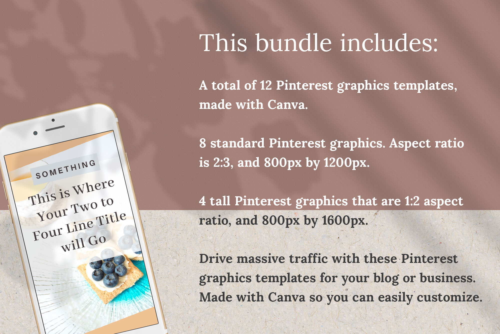 Pinterest Graphics Canva Template | Bloom example image 2