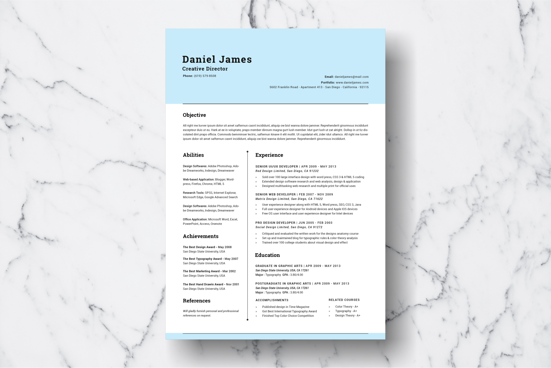 Resume Template Vol. 05 example image 2