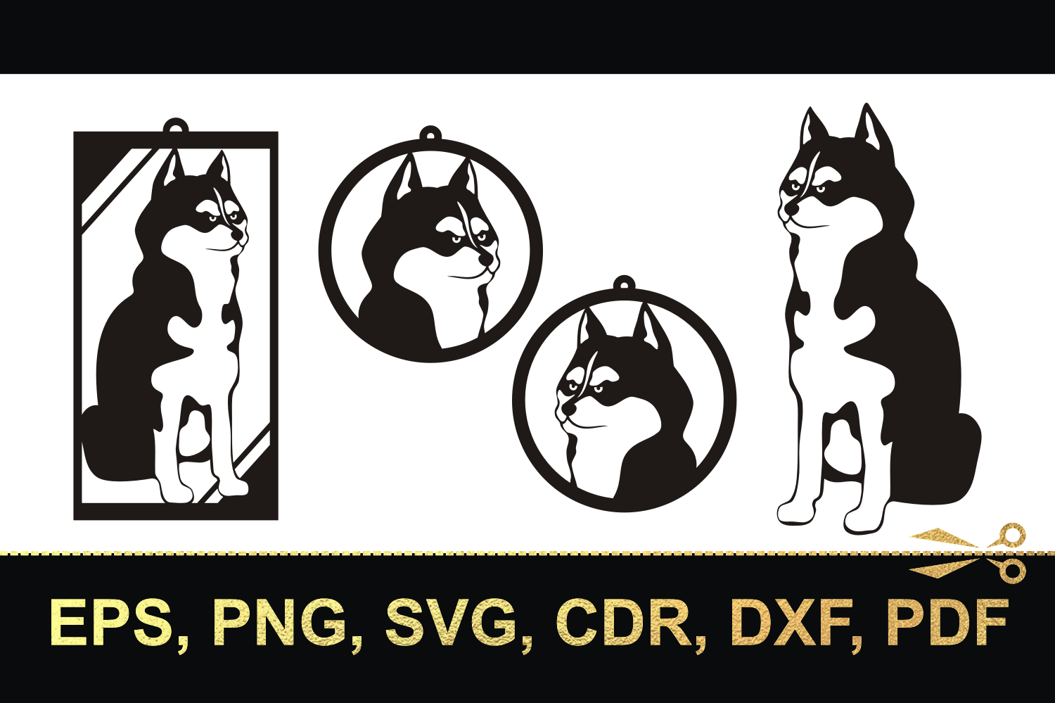 Husky-3. Cutting files and earrings example image 2