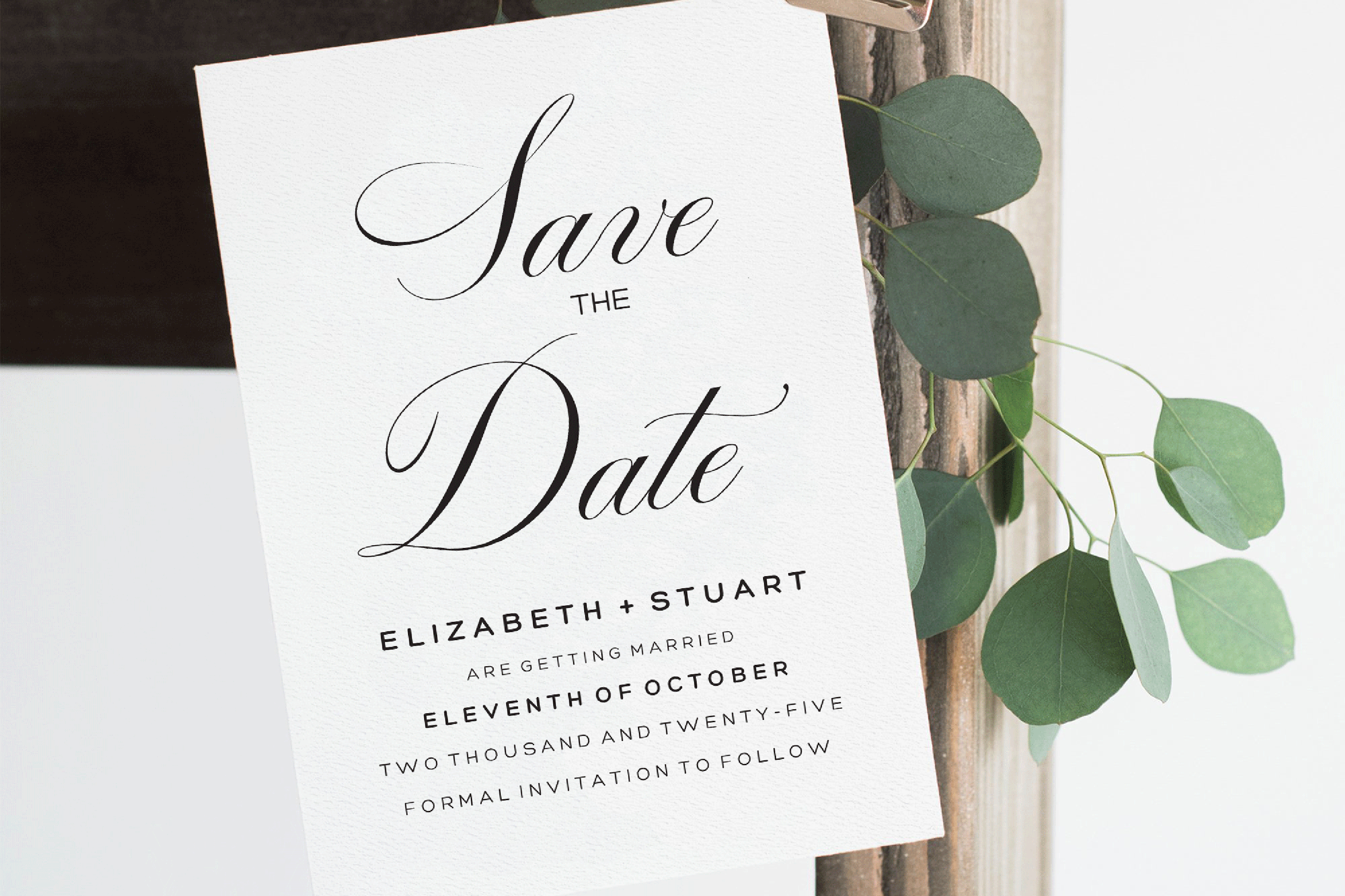 Editable Save The Date Template, Printable Save The Dates example image 2