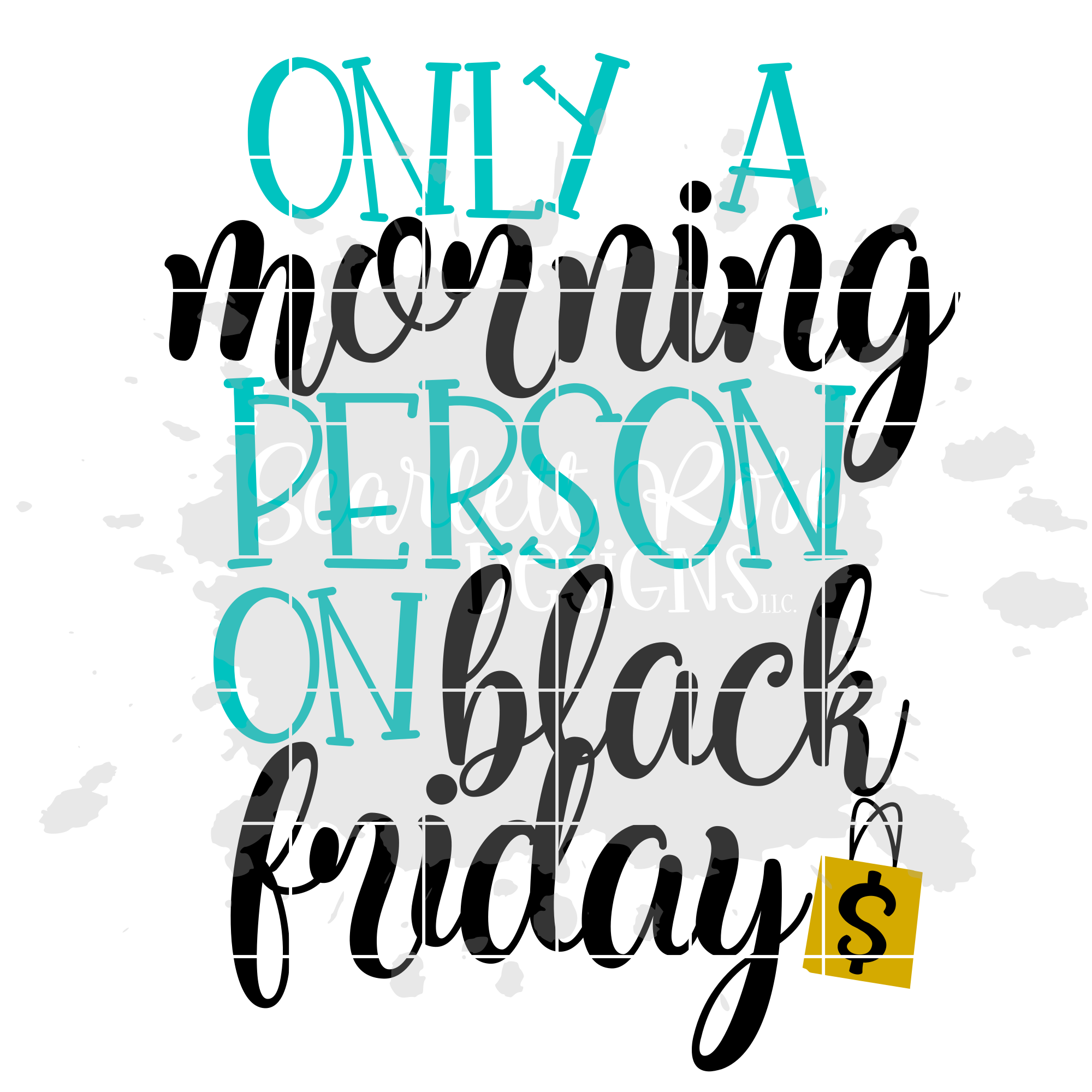 Only a Morning Person on Black Friday SVG - Black Friday SVG example image 2