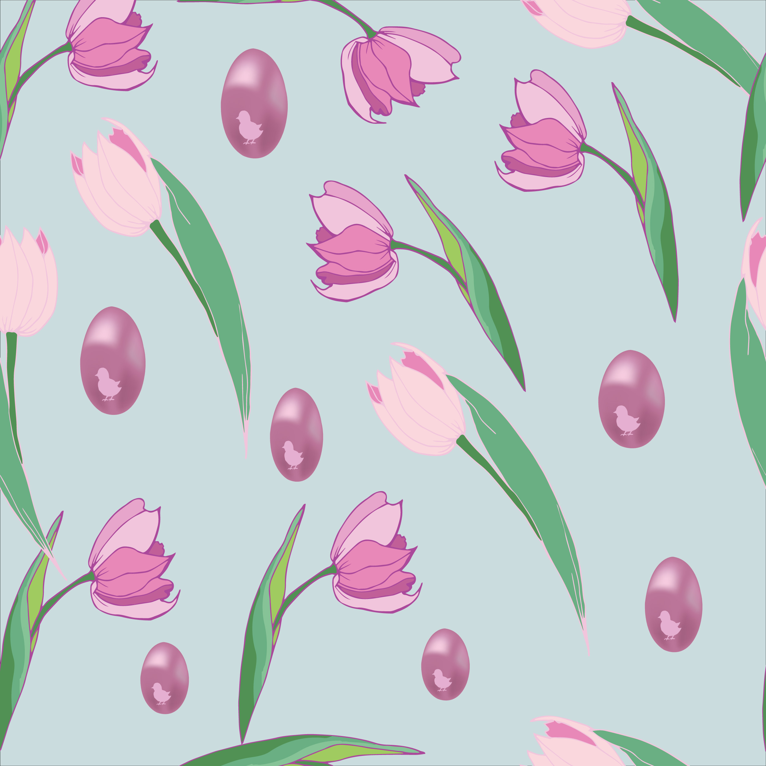 8 Seamless Easter Patterns example image 6