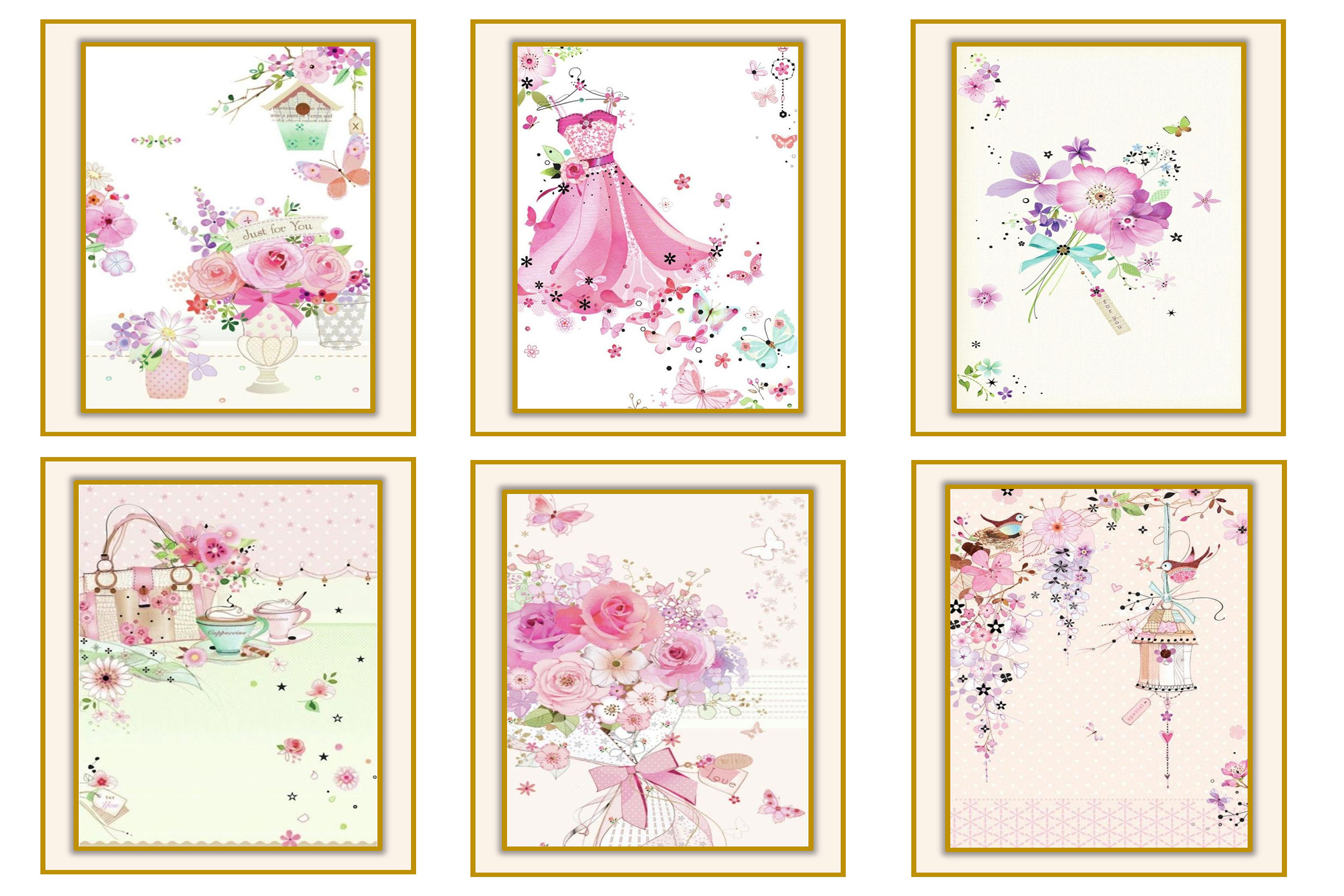 Country Springtime Watercolour Backgrounds, Ephemera &PNG example image 6