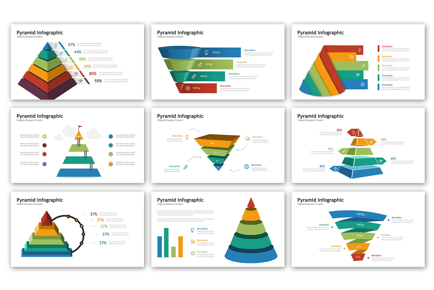 Pyramid Presentation - Infographic Template example image 3