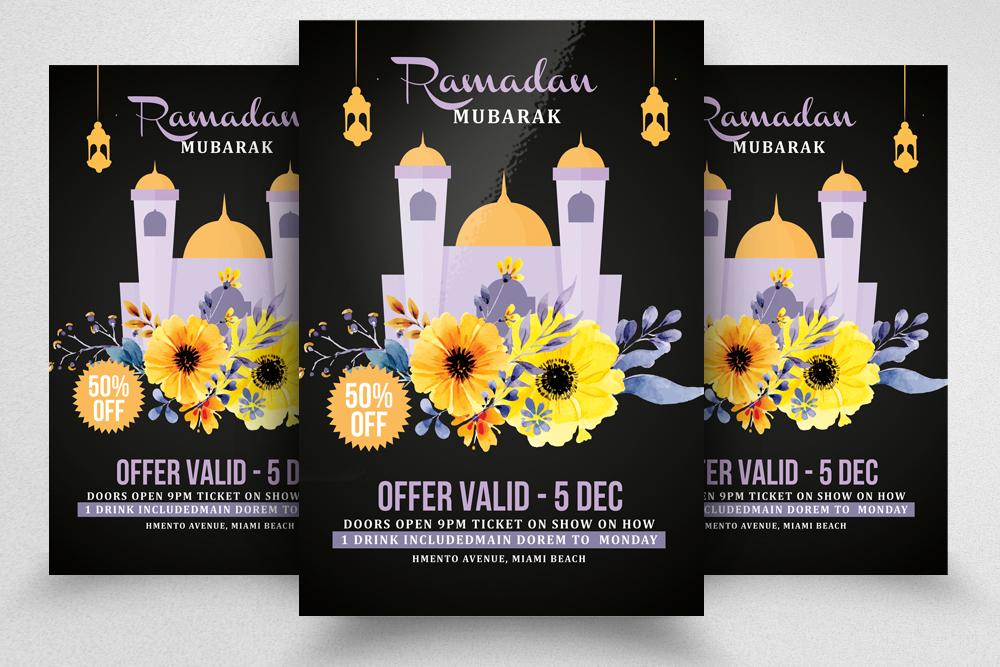 Ramadan Kareem Flyer Template example image 1