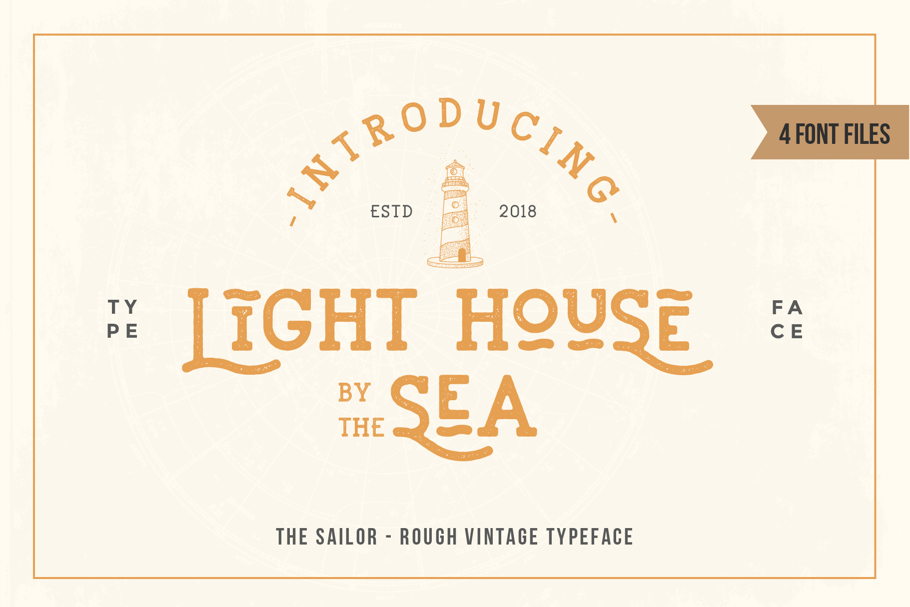 LightHouse - Vintage Sailor Rough Typeface example image 2